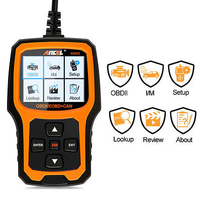 Automotive Car Diagnostic Tool OBD 2 Scanner Code Reader Analyzer Ancel AD410
