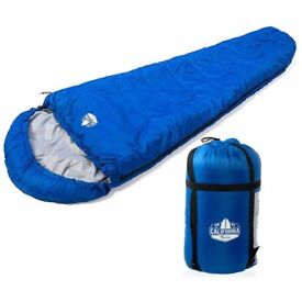 California Basics 3-4 Season 400GSM Mummy Sleeping Bag with Water-Resistant Shell