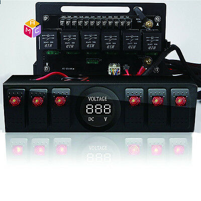 (Control Box 6 Switch Electronic Relay System Module Digital Voltmeter 09-17 JK)