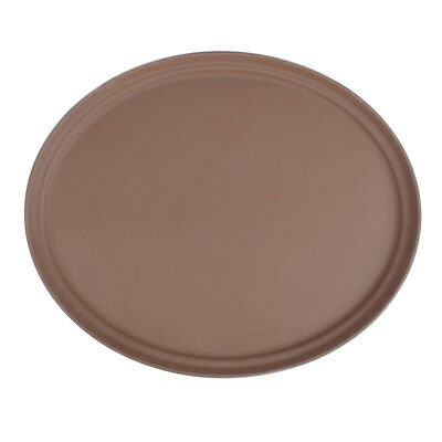 4-trays 27 Brown Oval Fiberglass Non-skid Restaurant Serving Tray