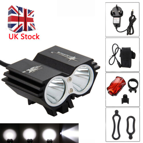 00LM USB Rechargeable Bike Front Light Cycling Bicycle LED Lamp w// Battery