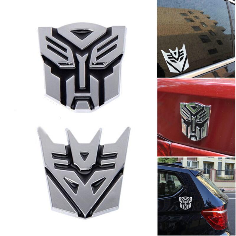 Metal Transformers Decepticon Autobot Emblem Car Motorcycle Badge Decal Sticker