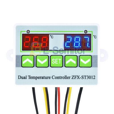 St3012 Digital Ac110-220v Dual Temperature Controller Thermostat Sensor -50-110