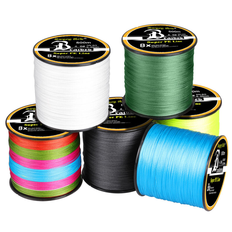 300-1000M Super Strong PE Lines Braided Sea Fishing Line 4/8 Strands 12-100LB