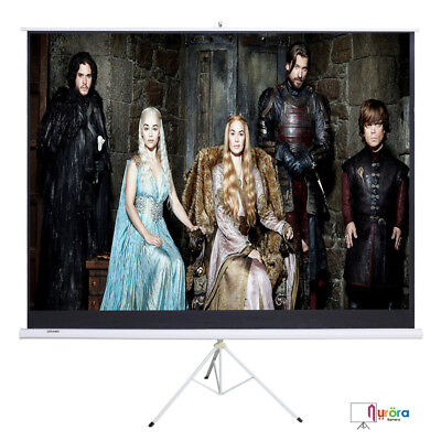 Mecor 100 169 Projector Projection Screen Movie Tripod Portable Pull-up Matte