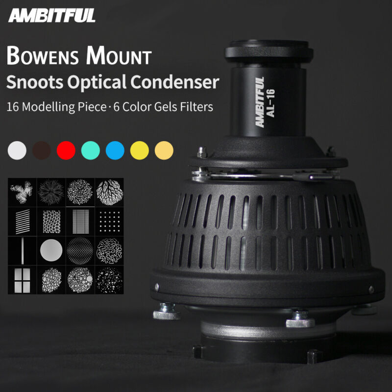 AMBITFUL AL-16 Optical Condenser Art Focalize Conical Snoot With Bowens Mount