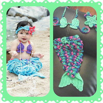 Baby Mermaid Outfit, crochet, halloween, costume, pageant, prop, shower gift,](Mermaid Halloween Costume Baby)