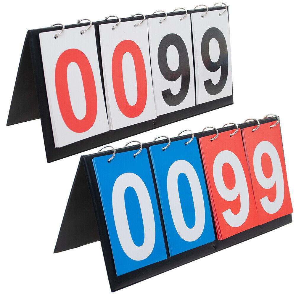 GOGO 4 Digits Table Top Score Keeper Folding Portable Scoreboard Flipper 00-99