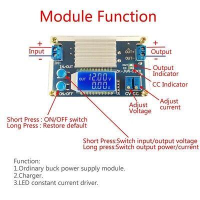 12a Lcd Display Adjustable Step Down Power Supply Module Cvcc Converter Dc-dc