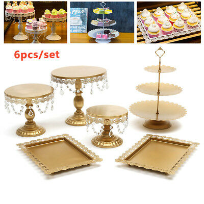 Wedding Cupcake Cake Stand Crystal Metal Round Plate Party Dessert Display Tower (Cupcake Towers)