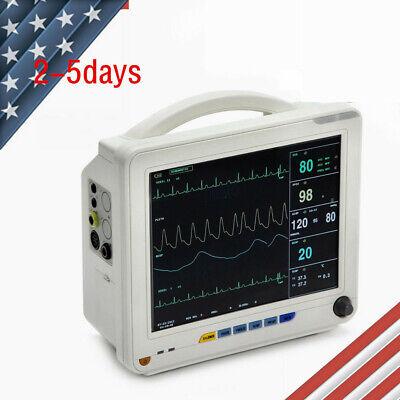 Icu Ccu Vital Sign Patient Monitor 12-in 6-parameter Ecgnibp Spo2tempresppr