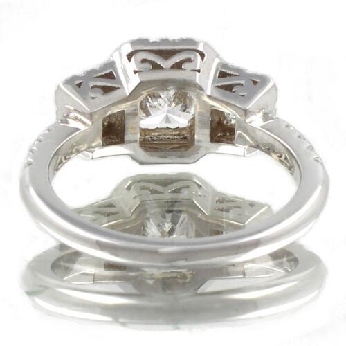 GIA Certified Radiant Cut Diamond Engagement Ring 2.26 Carat 18k White Gold 3
