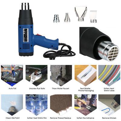 Usa Heat Gun Hot Air Gun Dual Temperature 4 Nozzles Power Tool Set 1500w 110v