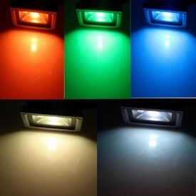 30W / 50W Cool White / RGB Full Colour LED Security Floodlight Outdoor Flood Light