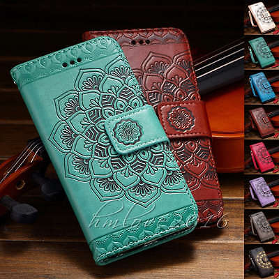 Leather Stand - Mandala Magnetic Flip Leather Stand Card Wallet Case  For iphone 7 7 Plus 6s 5se