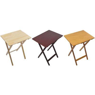 Folding Snack Table Pine Wood MDF TV Side Laptop Coffee Tea