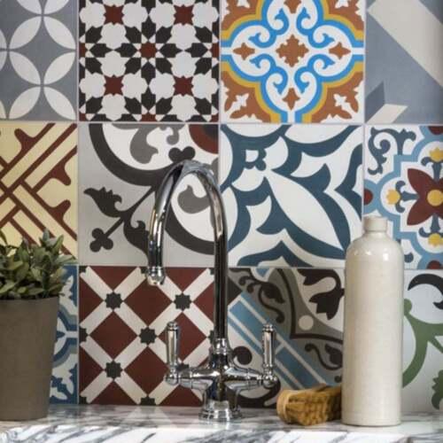 25 Creative Patchwork Tile Ideas Full Of Color And Pattern: Ca'Pietra Cement Encaustic Patchwork Multicolour Tile