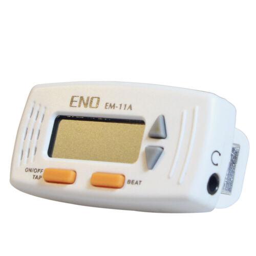 2PCS  White mini-clip electronic practice metronome setting function