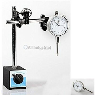 Dial Indicator Set With Onoff Magnetic Base New