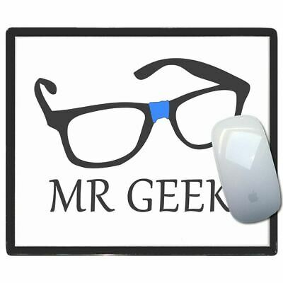 Mr Geek - Thin Pictoral Plastic Mouse Pad Mat Badgebeast