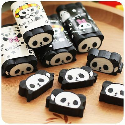 Panda Eraser Cuttable Pencil Erasers School Office Stationery Gift Cute Cartoon