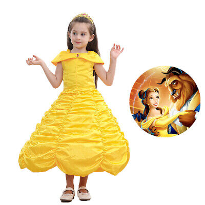 Belle Princess Fancy Dress Beauty and the Beast Party Halloween Cosplay Costume](Costume Beauty And The Beast)