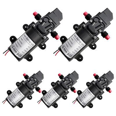 5x 12v Dc 60w Water Pressure Diaphragm Pump Self Priming Automatic Switch 130psi