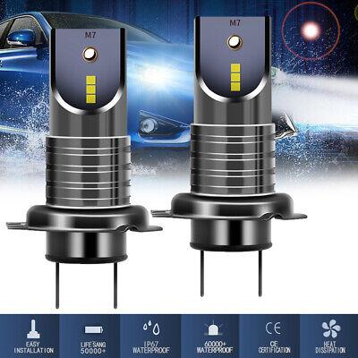 2X H7 110W 30000LM COB LED Car Headlight Fog Lamp Kit High Low&Beam Bulb 6000K
