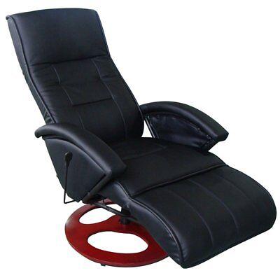 Massagesessel Fernsehsessel Relaxsessel Massage+Heizung TV Sessel SCHWARZ NEU 3