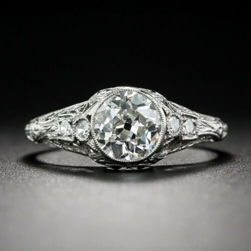 Antique 1.75Ct White Round Cut Diamond Art Deco Engagement Ring Solid 925 Silver
