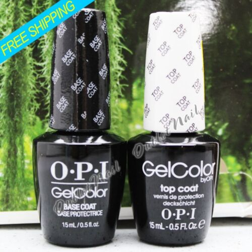 OPI GelColor Soak Off Gel Nail Polish 15ml  Set : 1 BASE + 1