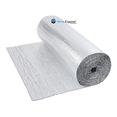 Double Foil Single Bubble Wrap Aluminum Insulation Roll 1.2m x 25m Loft Wall
