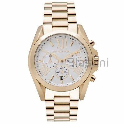 Michael Kors Original MK6266 Unisex Bradshaw Gold Stainless St Chrono Watch 43mm