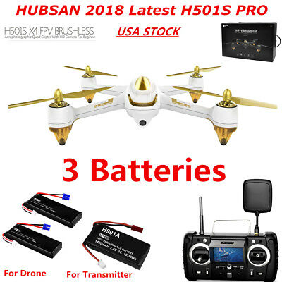 Hubsan X4 H501S Pro FPV Drone Brushless 1080P Follow Me GPS RC Quadcopter RTF US