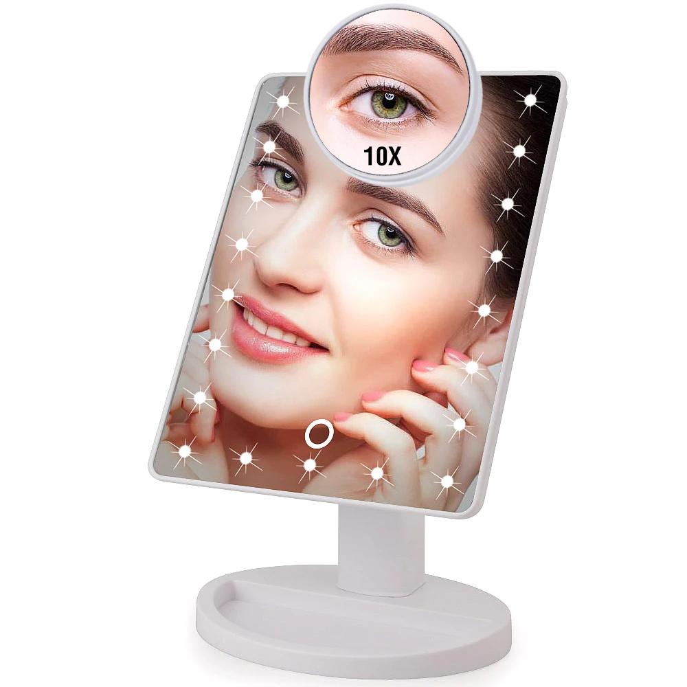 Makeup 22 Led Vanity Mirror with Lights, 1x 2x 3x 10x Magnif