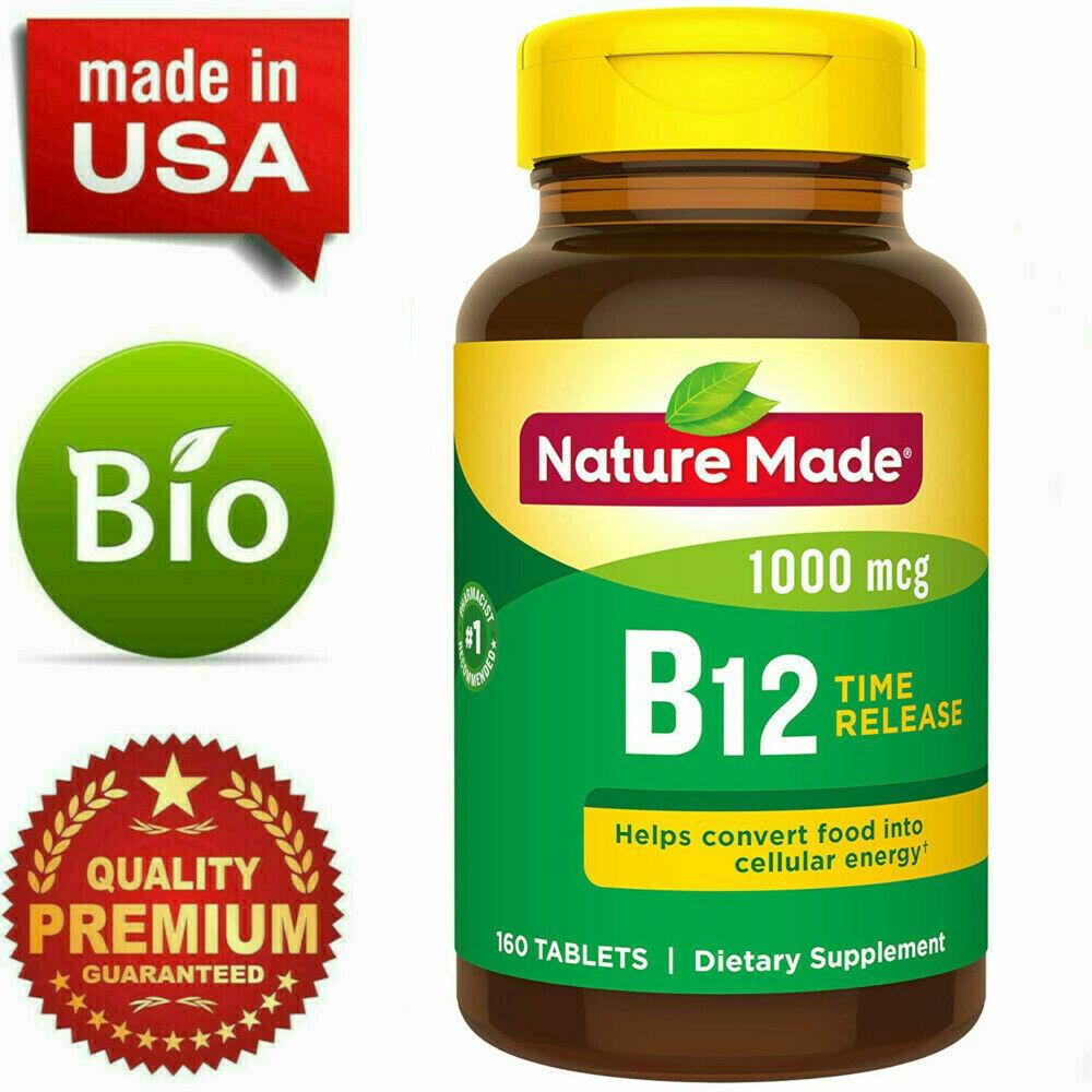 Complejo Vitamina B-12 En Pastillas Vitaminas Para La Falta De Energia Cansancio 1
