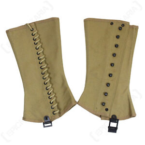 US ARMY M1938 CANVAS LEGGING/GAITERS/SPATS 4R WW2 REPRO