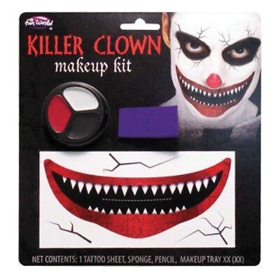 Erwachsene Horror Halloween Gesichtsfarbe Set Kostüm (Clown Halloween Gesicht Make-up)