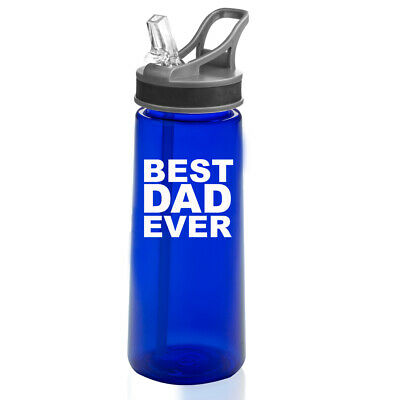 22 oz Sports Water Bottle With Straw Best Dad (Best Water Bottle With Straw)