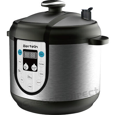 6L Non-Stick Multi Function Electric Pressure Cooker Stainless Steel Rice Pot