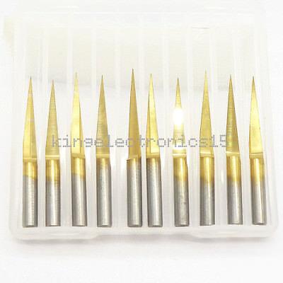 10pcs 3.175mm Carbide Pcb Engraving Bits Cnc Router Tool 10 Degrees 0.1mm V-shap