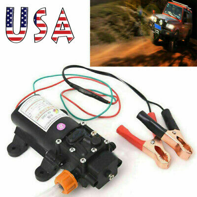 12V Electric Motor Oil Diesel Fuel Fluid Extractor Change Pump Siphon Transfer