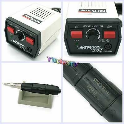 Dental Saeshin Strong 204 Micro Motor 102 Polishing Handpiece 110v