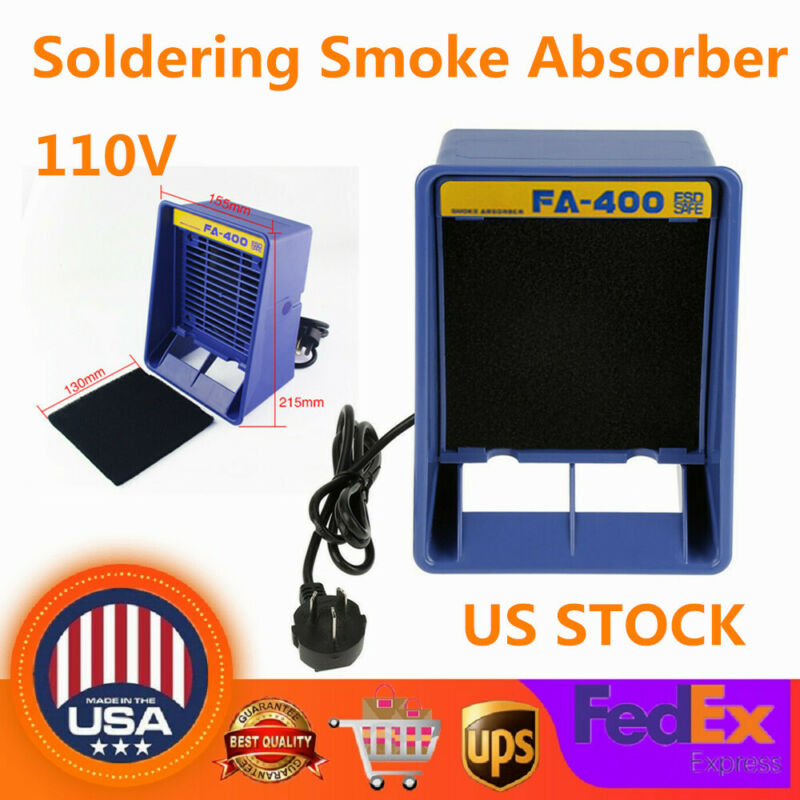 110V 13W FA-400 Soldering Iron Smoke Absorber Fume Extractor Air Filter Fan