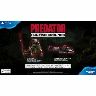 Predator Hunting Grounds with Pre-Order Bonuses (PlayStation 4) PS4 New Sealed