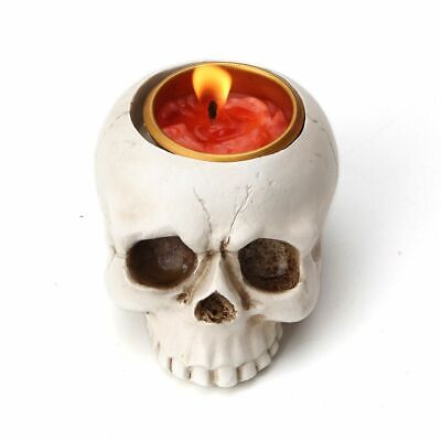 Skull Head Candle Holder Mold Candlestick Tray Ashtray Silicone Craft Pot Mould