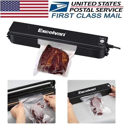 Vacuum Sealer Machine Seal Food Meal Saver Sealing System With 5pcs Bags