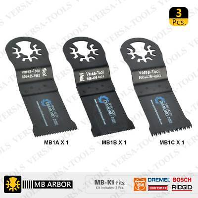 Versa Tool Mb-k1 Bi-metal Oscillating Saw Blade Set Fits Dremel Fein Multimaster