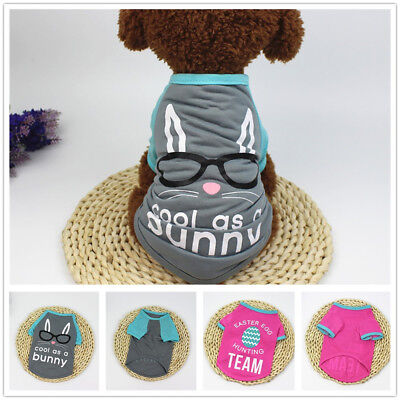 Easter Day Fashion Dog Clothing Polyester T shirt Puppy Costume For Small Dog - Dog Easter Costumes