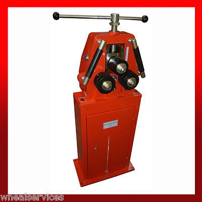 WNS Manual Ring Roller Section Roll Bender Flat Round Bar 30mm Shaft Diameter